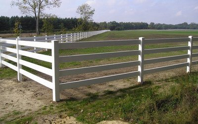 Fencing of pastures (stables for horses)